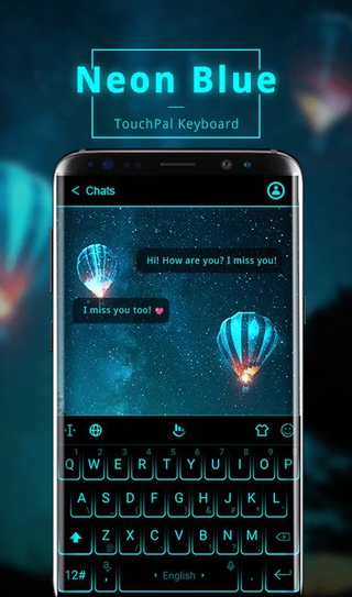 TouchPal SkinPack Neon Blue 6 5 11 2019 apk Free Download | APKToy com