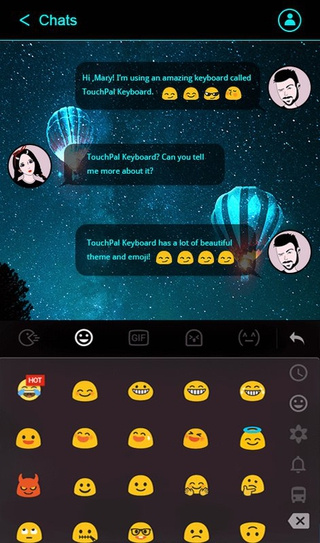 TouchPal SkinPack Neon Blue 6 5 11 2019 apk Free Download | APKToy com