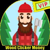 Clicker Wood Money  icon