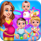 Mommy and Newborn Triplets Grown Up APK
