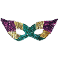 Photo montage carnival mask icon
