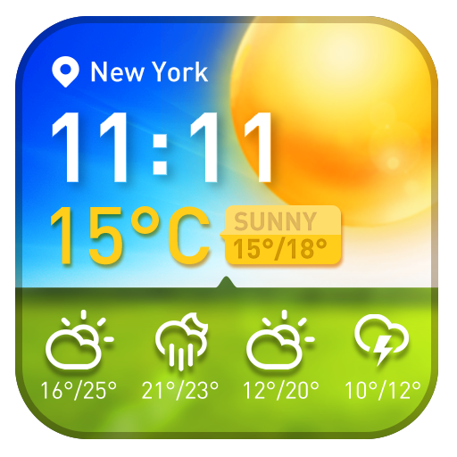 Free Weather and clock widget APK