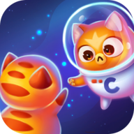 Space Cat Evolution: Kitty collecting in galaxy icon